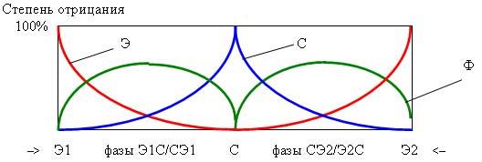 Рис. 1. Динамика фаз эволюционного цикла.
